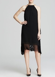 MICHAEL Michael Kors Chain Neck Halter Dress