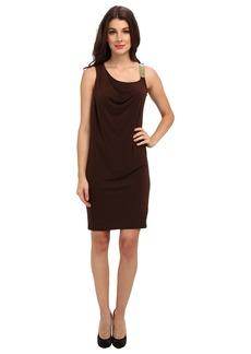 MICHAEL Michael Kors Chain Strap Drape Dress