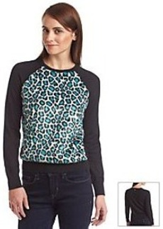 MICHAEL Michael Kors® Cheetah Crewneck Sweater