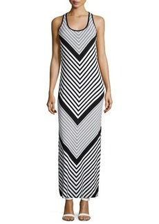 MICHAEL Michael Kors Chevron Racerback Maxi Dress