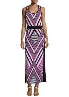 MICHAEL Michael Kors Chevron Sleeveless Maxi Dress