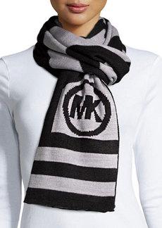 MICHAEL Michael Kors Chevron Stripe Logo Scarf