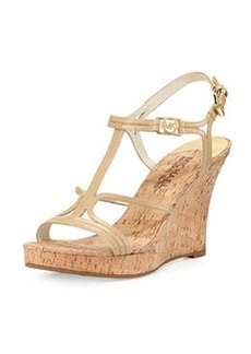 MICHAEL Michael Kors Cicely Wedge Sandal, Nude