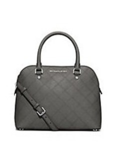 MICHAEL MICHAEL KORS Cindy Medium Leather Dome Satchel Bag