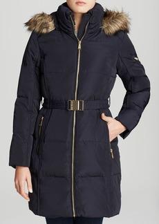 MICHAEL Michael Kors Coat - Missy Belted Zip Front