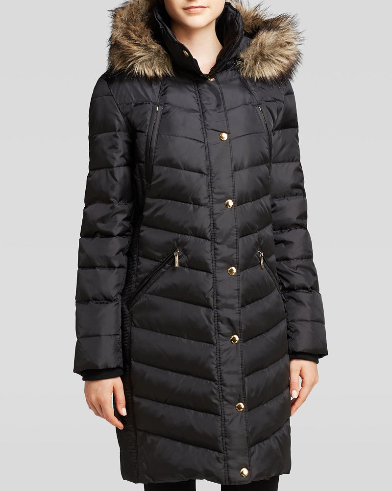 michael michael kors coat ruched shop it to me all sales in one place shop it to me. Black Bedroom Furniture Sets. Home Design Ideas