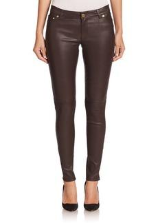 MICHAEL MICHAEL KORS Coated Skinny Zip Pants