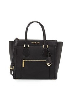 MICHAEL Michael Kors Colette Large Zip-Top Satchel Bag, Black
