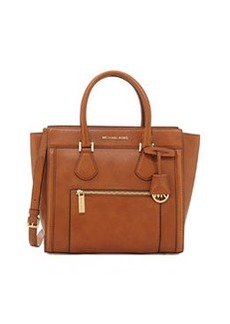 MICHAEL Michael Kors Colette Large Zip-Top Satchel, Luggage