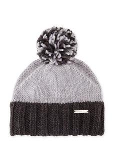 MICHAEL Michael Kors Colorblock Pom-Pom Skull Hat
