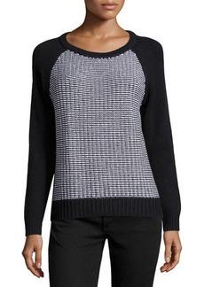 MICHAEL Michael Kors Colorblock Raglan-Sleeve Sweater