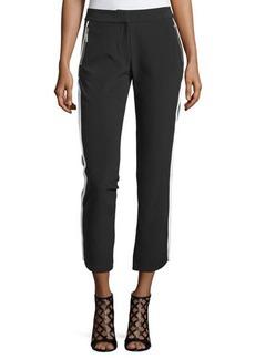 MICHAEL Michael Kors Contrast-Trim Zip-Pocket Pants