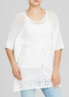 MICHAEL Michael Kors Cotton Crochet Drawstring Tunic