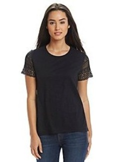 MICHAEL Michael Kors® Crochet Sleeve Top