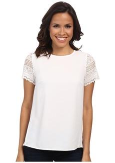 MICHAEL Michael Kors Crochette Sleeve Pleat Back Shirt