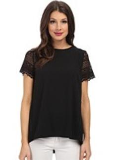 MICHAEL Michael Kors Crochette Sleeve Pleat Back Shirt