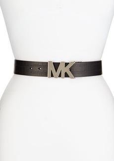 MICHAEL Michael Kors Crocodile-Embossed Logo Belt