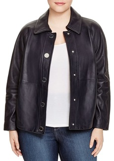MICHAEL Michael Kors Cropped Leather Trench Coat
