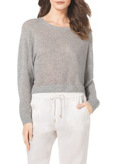 MICHAEL Michael Kors Cropped Waffle-Knit Cashmere Sweater