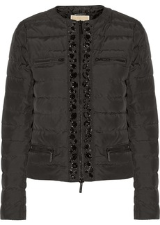 MICHAEL Michael Kors Crystal-embellished quilted shell jacket