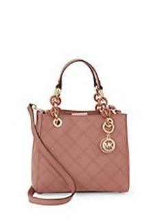 MICHAEL MICHAEL KORS Cynthia Small Leather Satchel Bag