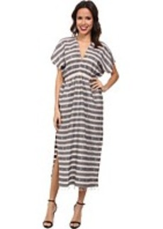 MICHAEL Michael Kors Daru Yarn-Dyed V-Neck Dress