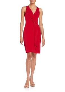 MICHAEL MICHAEL KORS Deep V Wrap Dress