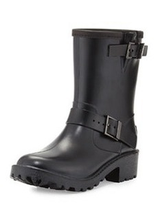 MICHAEL Michael Kors Devenport Short Rain Boot, Black