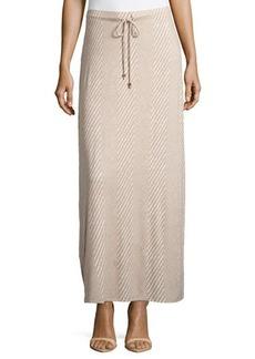 MICHAEL Michael Kors Diagonal-Stripe Maxi Skirt