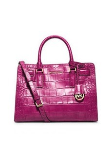MICHAEL Michael Kors Dillon Croc-Embossed Satchel Bag