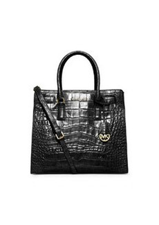 MICHAEL Michael Kors Dillon Croc-Embossed Tote Bag, Black