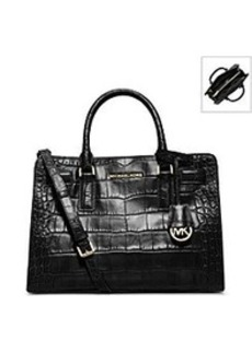 MICHAEL Michael Kors® Dillon Crocodile Pattern-Embossed Leather Satchel