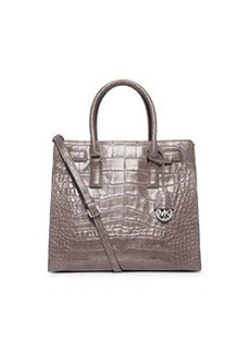 MICHAEL Michael Kors Dillon Large Croc-Embossed Tote Bag, Gray