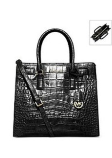 MICHAEL Michael Kors® Dillon Large Crocodile Pattern-Embossed Leather Tote