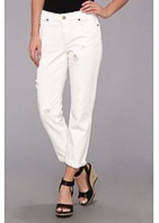 MICHAEL Michael Kors Distressed Boyfriend Jean in White