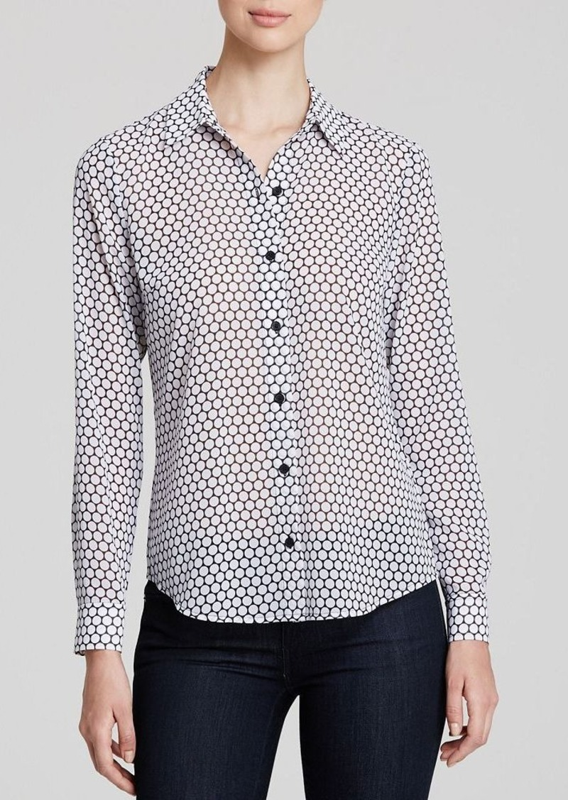 Michael michael kors michael michael kors dot print shirt for Shirt printing places near me