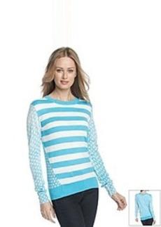 MICHAEL Michael Kors® Dot Stripe Print Sweater