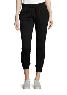 MICHAEL Michael Kors Drawstring Cropped Lounge Pants