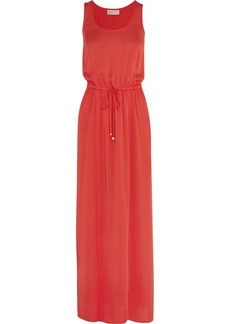 MICHAEL Michael Kors Drawstring silk maxi dress