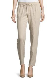 MICHAEL Michael Kors Drawstring Straight-Leg Pants
