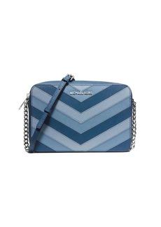MICHAEL MICHAEL KORS East West Chevron Leather Crossbody Bag
