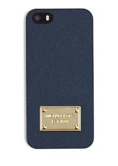 MICHAEL Michael Kors Electronics Saffiano Phone Cover, Navy