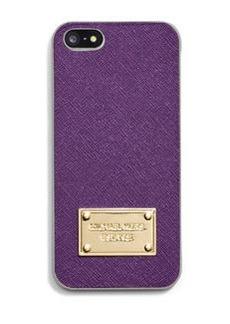 MICHAEL Michael Kors Electronics Saffiano Phone Cover, Violet