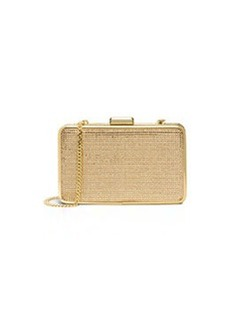 MICHAEL Michael Kors Elsie Crystal Box Clutch Bag, Blush/Topaz
