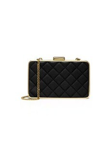 MICHAEL Michael Kors Elsie Quilted Box Clutch Bag, Black