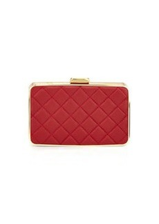 MICHAEL Michael Kors Elsie Quilted Box Clutch, Dark Red