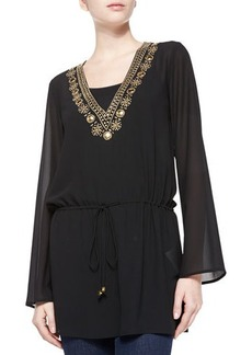 MICHAEL Michael Kors Embellished Drawstring Top