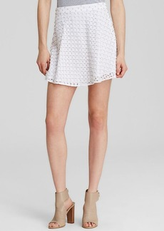 MICHAEL Michael Kors Embellished Eyelet Mini Skirt
