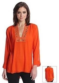 MICHAEL Michael Kors® Embellished Neckline Top