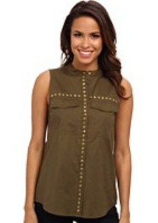MICHAEL Michael Kors Embellished S/L Pocket Blouse